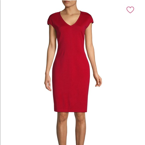 b7f2ba46ba70 St John Milano Knit Sheath dress